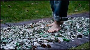 wlak on broken glass - Glass Walk