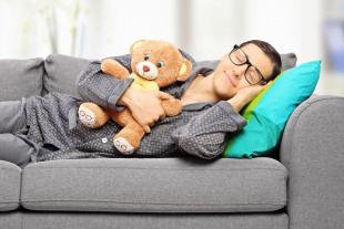 boy sleeps with teddy - Regression