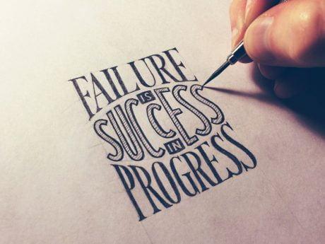 failure is success in progress - No failure