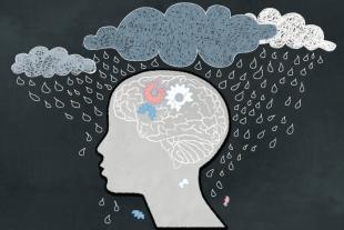 face dark clouds raining - Manage Stress